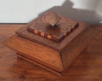 Vintage Kasten mid century casket box shell box wood