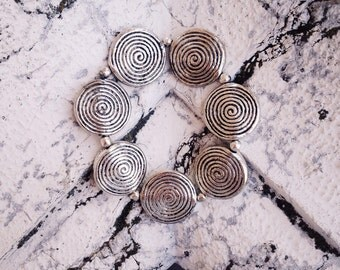 "Brass bracelet ""spiral"""