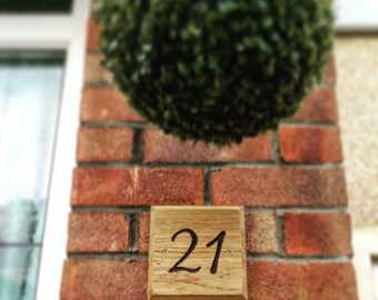 Square Oak house number