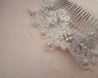 Lace, Pearls, and crystal. What more could you want?