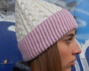 FREE SHIPPING!Wool hats,Knitted women hats,Women wool hats,Fur pom pom beanie,Cozy winter hat,winter fashion accessory, very warm
