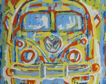 VW Camper van Painting ... VW pop art