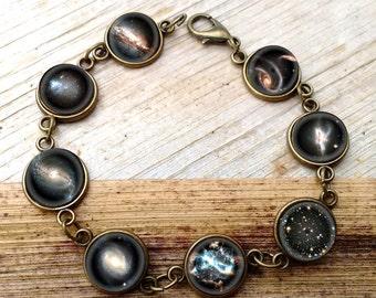 Galaxy bracelet, galaxy jewelry, nebula bracelet, stars bracelet, nebula jewelry, cosmic bracelet, interstellar bracelet
