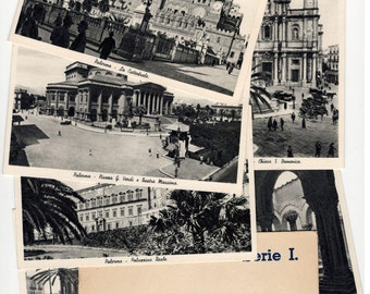 Palermo Italy Vintage Postcards (set of 6) 1943
