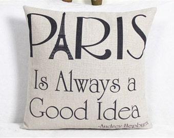SALE! Paris is Always a Good Idea Decorative Pillow