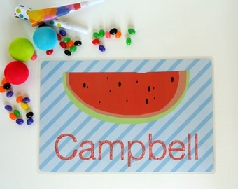 Watermelon - Personalized Kids Placemat - Watermelon Placemat - Custom Placemat - Christmas Gift - Child Placemat - Fruit Placemat