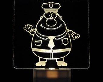 Police Officer Light Sensor LED Night Light, Personalized Custom LED Nightlight