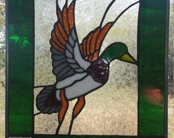 Stained Glass Mallard Drake Duck