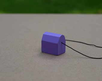 Miniature Barn Necklace (Violet)