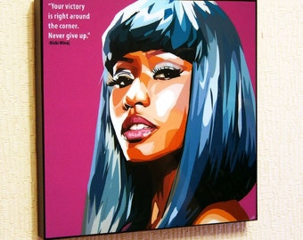 Nicki Minaj Pop Art Home Decor Wall Art Print