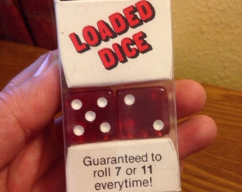 "Vintage set of (2) ""Loaded Dice"""