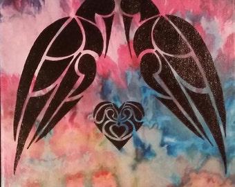 "Lovebirds - 12"" x 12"""