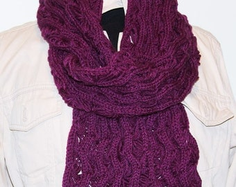 "Fan Lace SCARF/WRAP -  81""  Rare!  MANY Colors Available!"