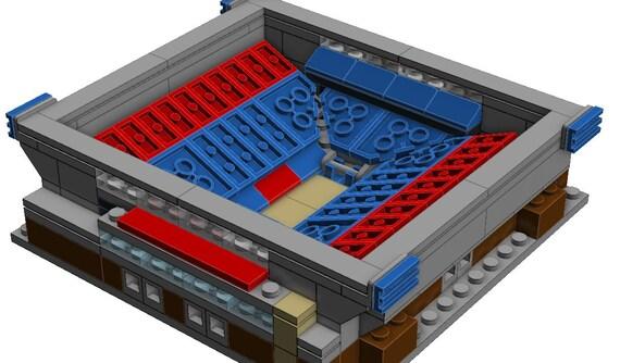 mini dayton ud arena lego model by blockstadiums on etsy