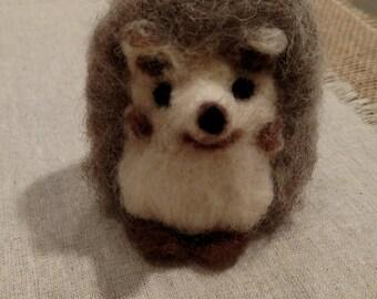Wool Felted Hedgehog Animal