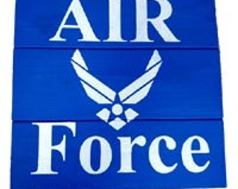Air Force Wood Sign