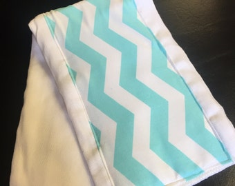 Blue chevron Burp Cloth