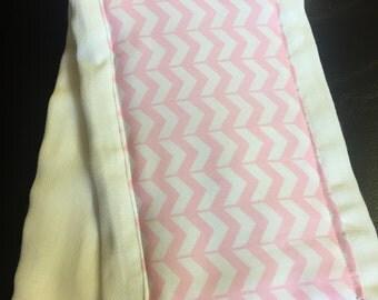 Pink chevron burp cloth
