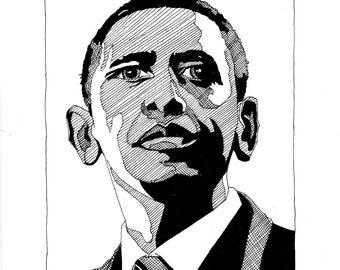 Barack Obama 8x10 print