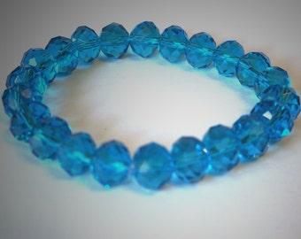 10mm brilliant blue crystal bracelet