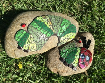 The Very Hungry Caterpillar - Mosaic Garden Rocks