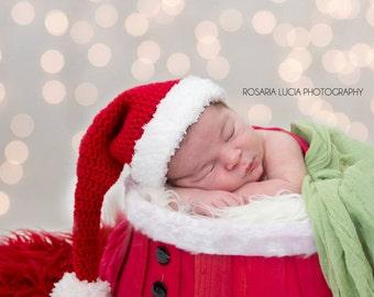Newborn or Sitter Santa Claus Hat