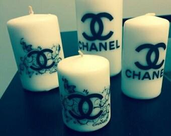 4 pc pillar candle set