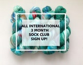 3 Month Sock Club Sign Up! International ONLY (not within Australia)