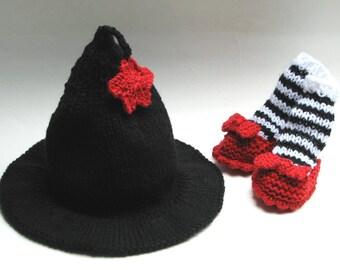 Hallowe'en baby hat, Witch hat, photo prop, halloween costume