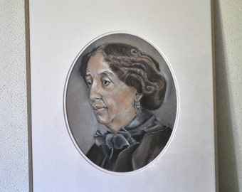 Portrait of George Sand, done in pastels.