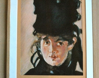 Copy to the pastels of a painting of Manet representing Berthe Morisot.