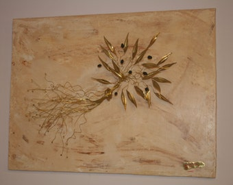 bouquet olive branch brass