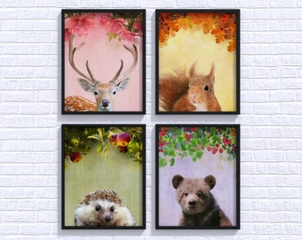 Nursery Woodland Print Set Woodland Nursery Woodland Wall Art Nursery Print Set Woodland Nursery Print Set Woodland Wall Art Print Set