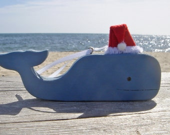 Santa Whale Ornament