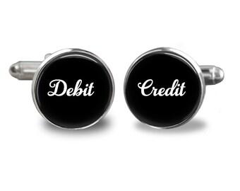 Accounting Debit/credt  Handmade Cufflinks