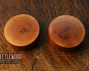 Ear Plugs Wood From Apricot - Ear Plugs - Wood Plugs - Ear Wood Plugs - Wood Gauges - 9/16' - 1/2' - 5/8' - 7/8' - 3/4' - 19mm - 18mm - 00g