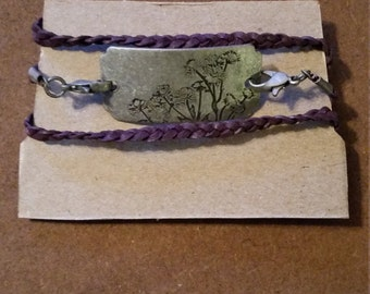 wildflower braided wrap bracelet