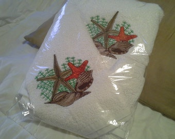Starfish & Seashells Towel Set