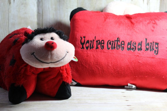 Personalized Lady Bug Pillow Pet-Customized lady bug Pillow