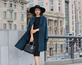 Modern Casual Wool Blend Trench Coat for Fall / Winter