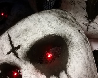 The Purge Anarchy Mask with Red LED Lighted Eyes On/Off Switch