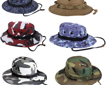 Wide Brim Military Camo Hunting Fishing Camping Bucket Boonie Hat
