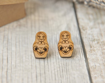 Cute Russian Doll Stud Earrings