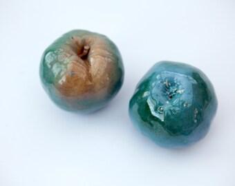 Сeramic fruit apple and pear