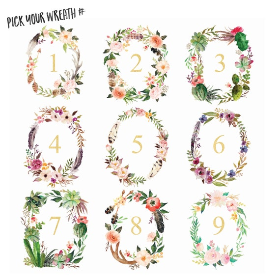 Floral Wreath Print, Floral Wreath Monogram, Watercolor Wreath, Wedding Monogram, Monogram Letters, Monogram Wall Decor,Floral Wreath Letter