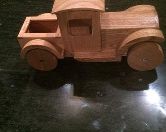 Solid oak child's truck