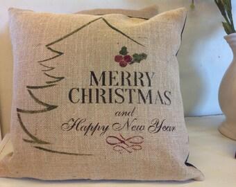 Christmas pillow:Merry Christmas tree pillow