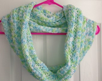 Hand knitted lace cowl-Olivia