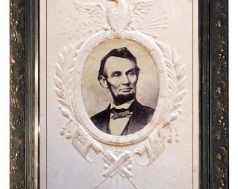 Rare Abraham Lincoln Commemorative Art.