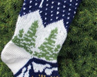 Snowy Night Knitted Stocking Kit